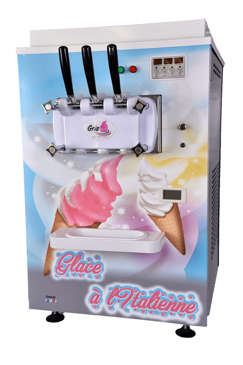 machine a glace de comptoir transparent